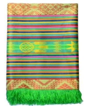 tablecloth ecuador green otavalo