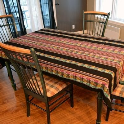 tablecloth peru black large kitchen