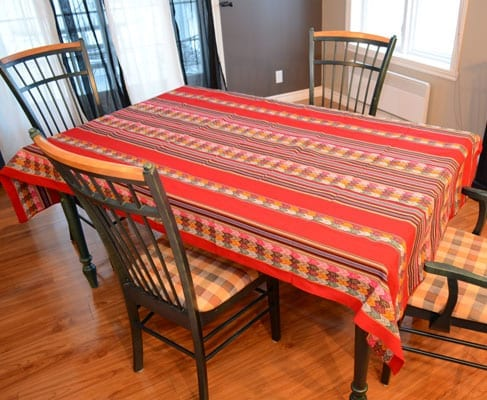 tablecloth peru red large kitchen