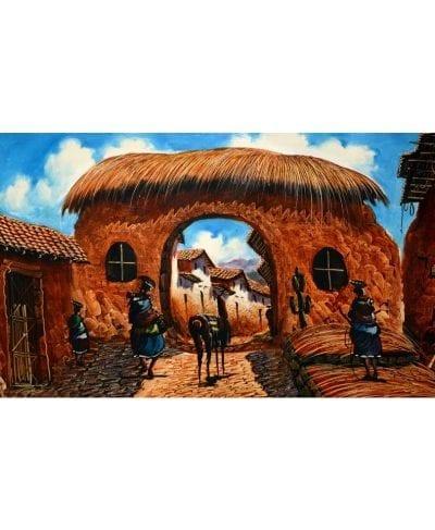 painting cusco peru