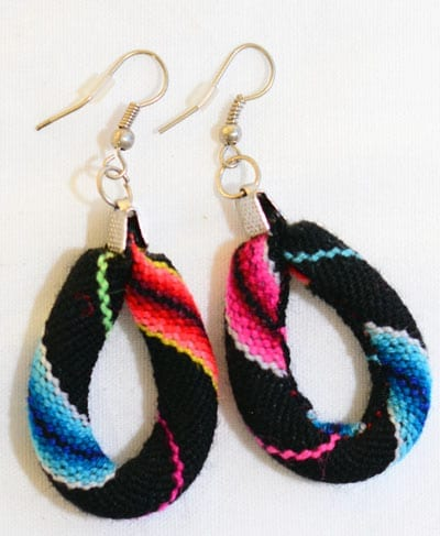 Earrings Made of traditional Peruvian Tissu