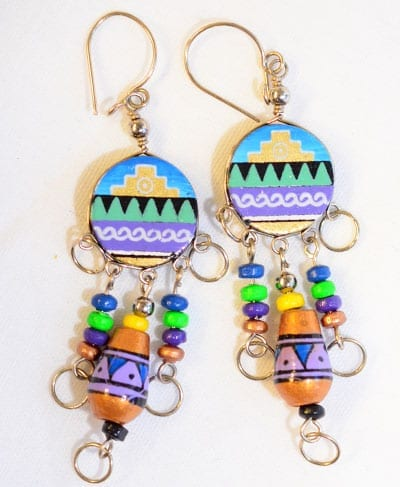 peruvian earrings from the andes