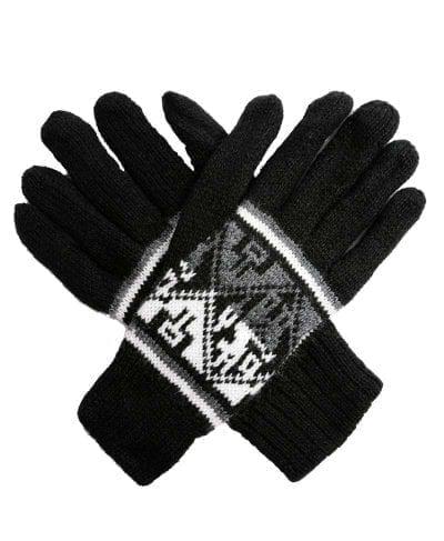 alpaca gloves dark peru