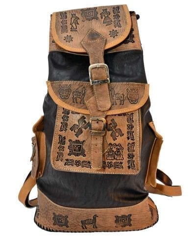 Backpack leather peru