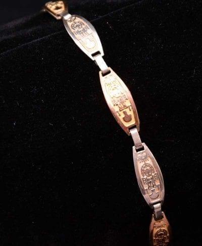 bracelet silver 950 gold tumi
