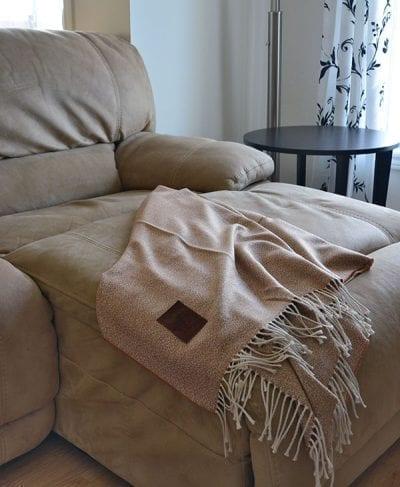 couverture 100% alpaga brun