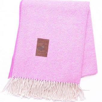 couverture 100% alpaga violet