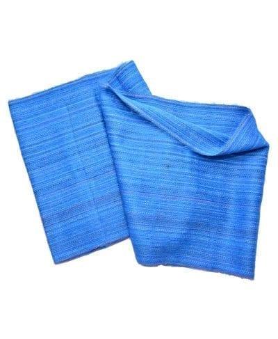Foulard éternité alpaga bleu