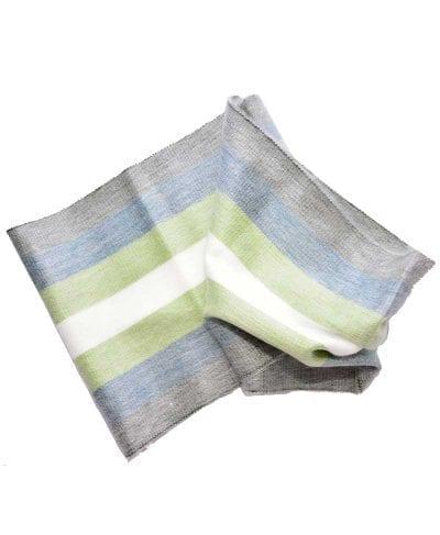 Foulard alpaga éternité gris bleu vert