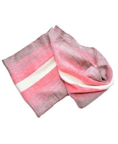 Foulard alpaga éternité gris rose