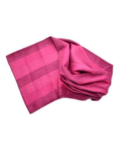 Foulard éternité alpaga rose
