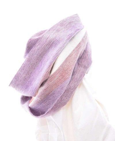 Foulard alpaga éternité violet