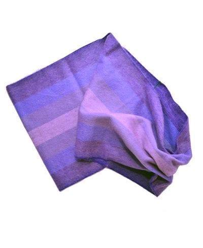 foulard éternité alpaga biolet bleu