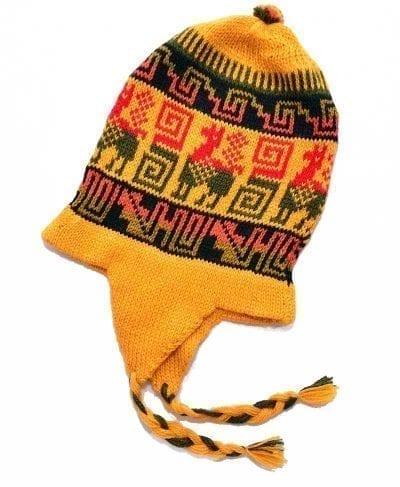 Tuque alpaga Pérou jaune