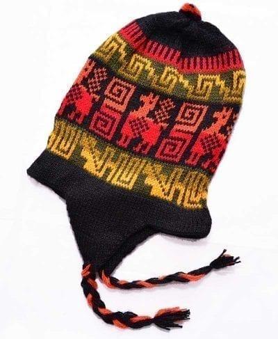 Tuque Pérou noir et jaune