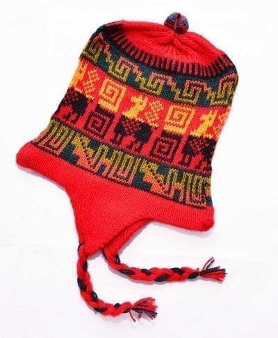 Tuque alpaga rouge