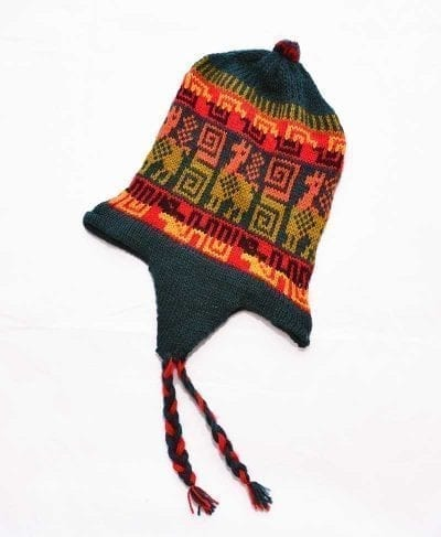 Tuque Pérou vert rouge