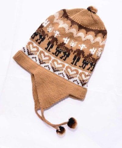 Tuque Pérou beige brun