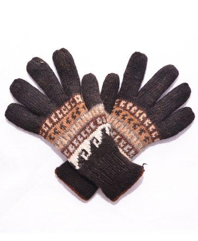 gants alpaga homme charbon