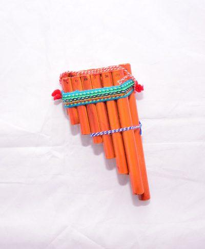 Flute de pan turquoise